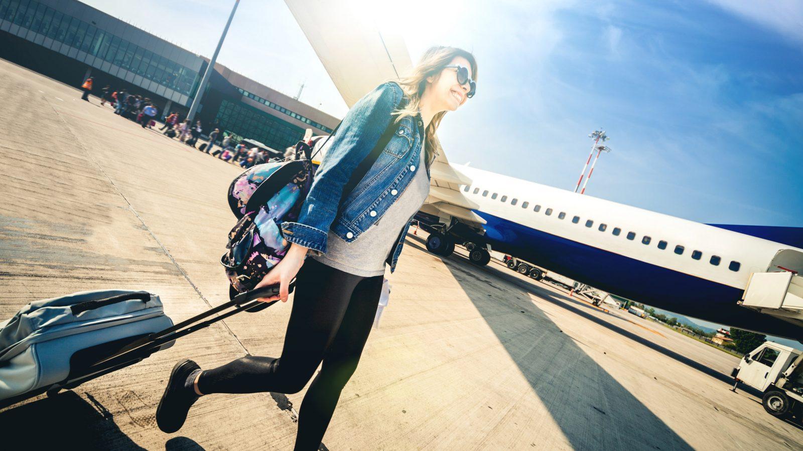 Flugzeug Boarding Plätze
