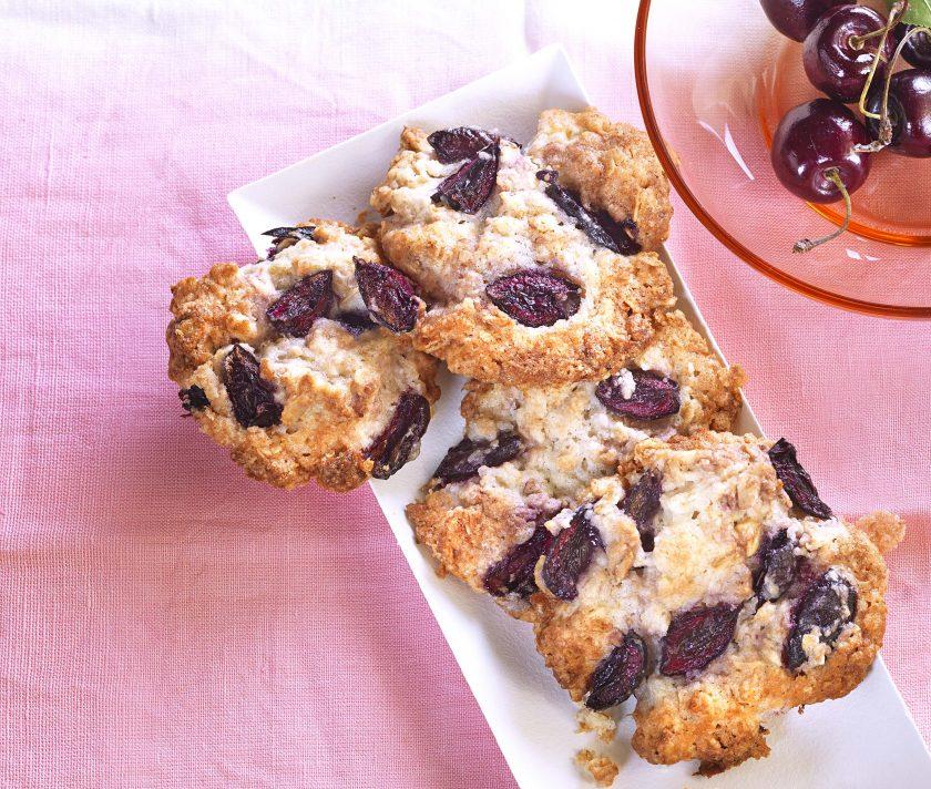 Haferflocken-Kirsch-Cookies