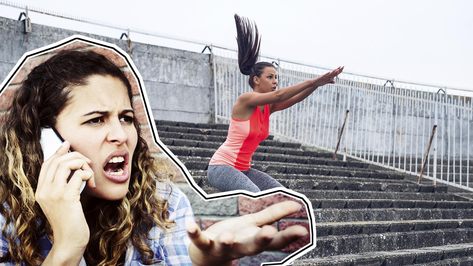 Fluchen beim Sport um fitter zu werden