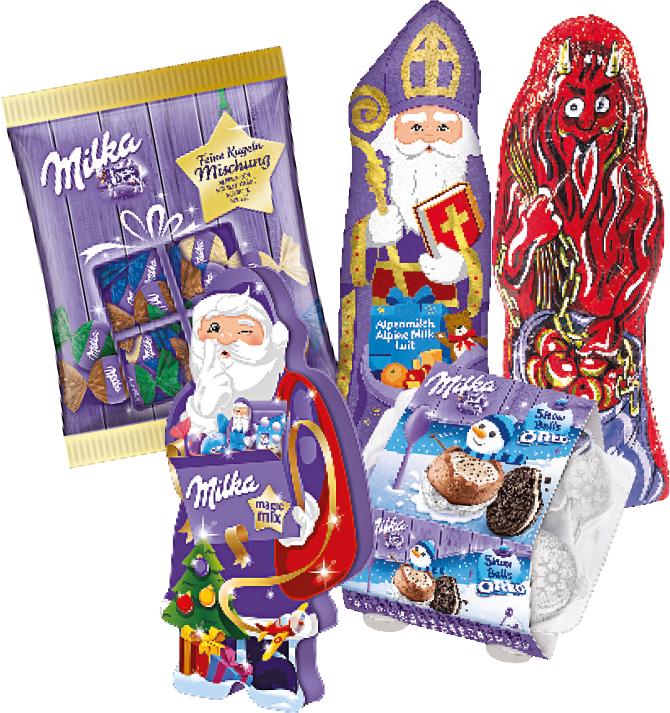 Eines von drei Milka-Packages