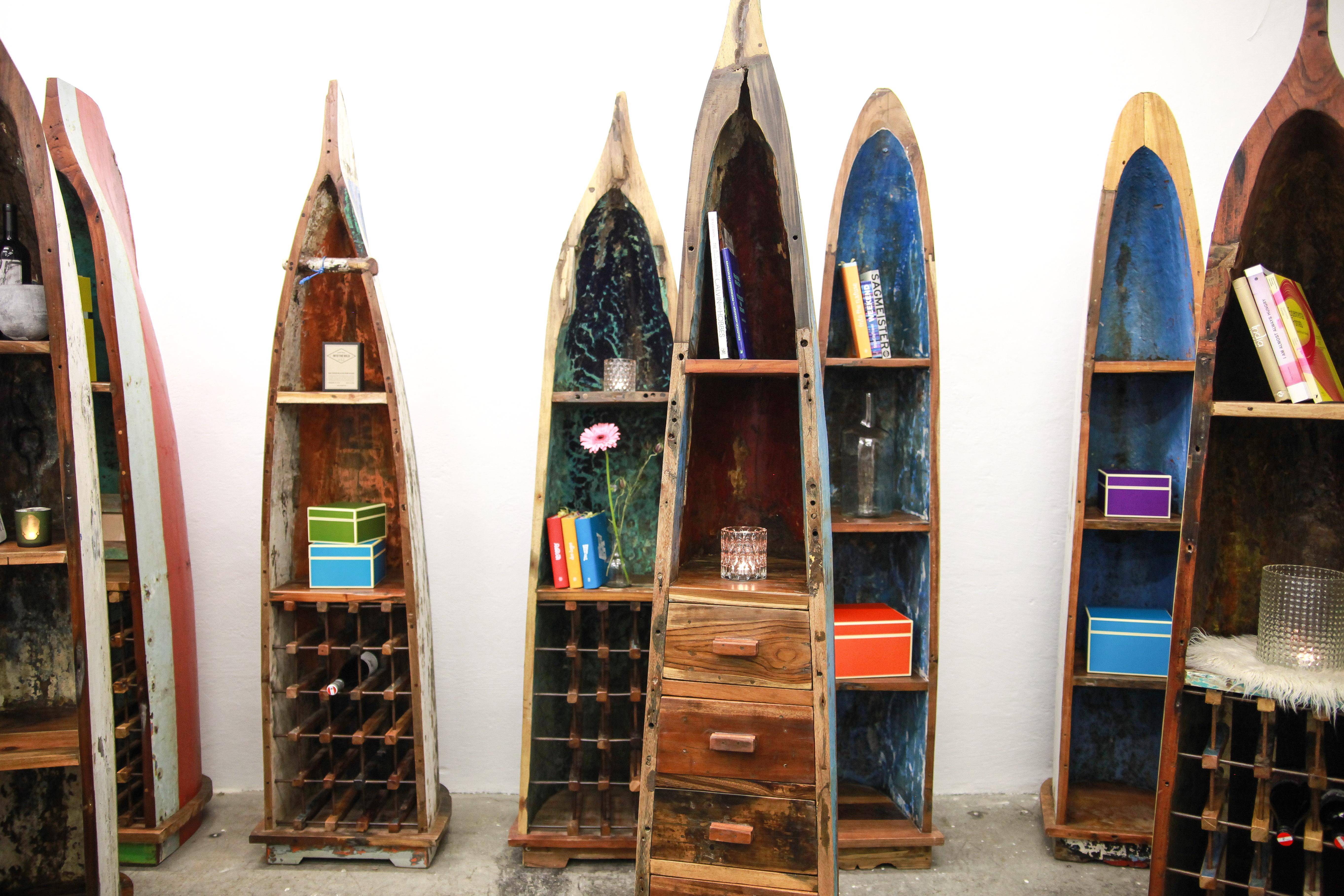 Bootsregal Jukung von Oceanwood